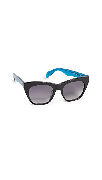 Rag & Bone Thick Cat Eye Sunglasses