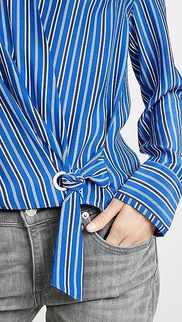 Rag & Bone Felix Stripe Popover Shirt