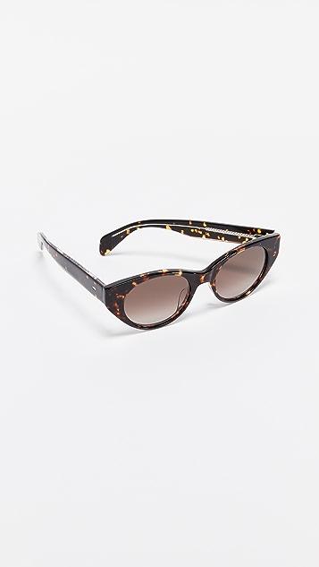 Rag & Bone Thin Cat Eye Sunglasses