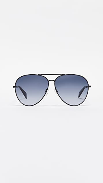 Rag & Bone Runway Aviator Sunglasses