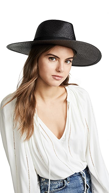 Rag & Bone Black Wide Brim Panama Hat