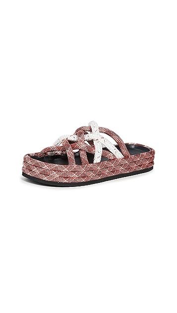 Rag & Bone Kris Espadrille Slide Sandals