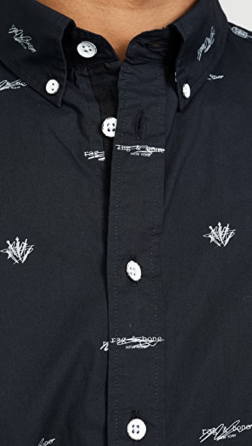 Rag & Bone Smith Short Sleeve Logo Shirt