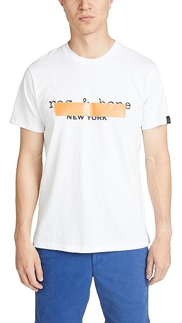 Rag & Bone Tape Logo Tee