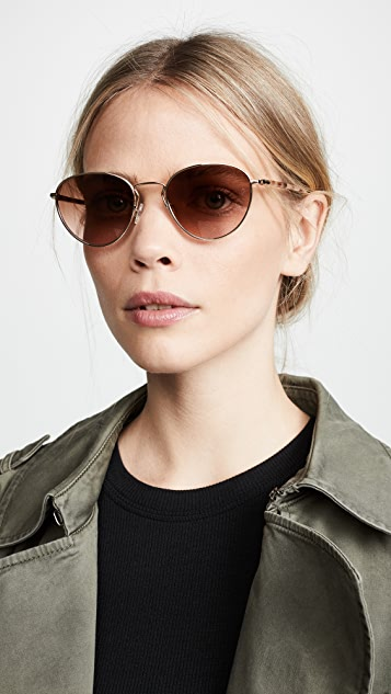 Rag & Bone Round Aviator Sunglasses