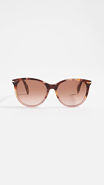 Rag & Bone Круглые солнцезащитные очки из ацетата