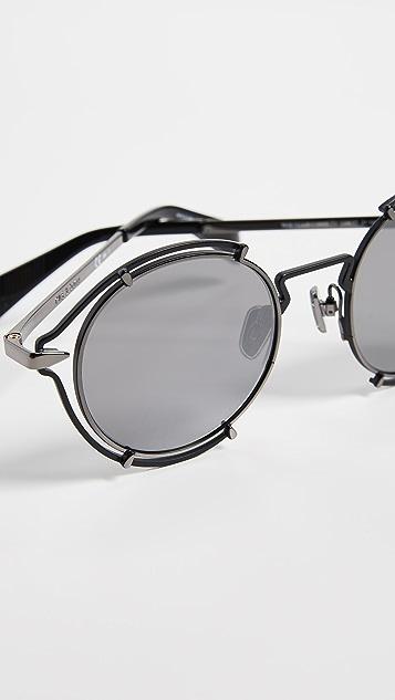Rag & Bone 圆形金属太阳镜