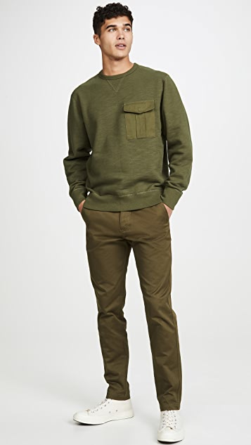 Rag & Bone Long Sleeve Airington Crew Neck