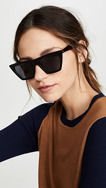 Rag & Bone Angled Acetate Sunglasses