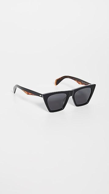 Rag & Bone Остроугольные солнцезащитные очки из ацетата