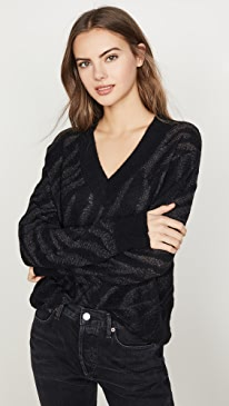 Germain Alpaca V Neck Sweater
