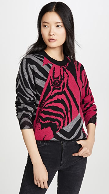 Rag & Bone Knits Cashmere Zebra Pullover