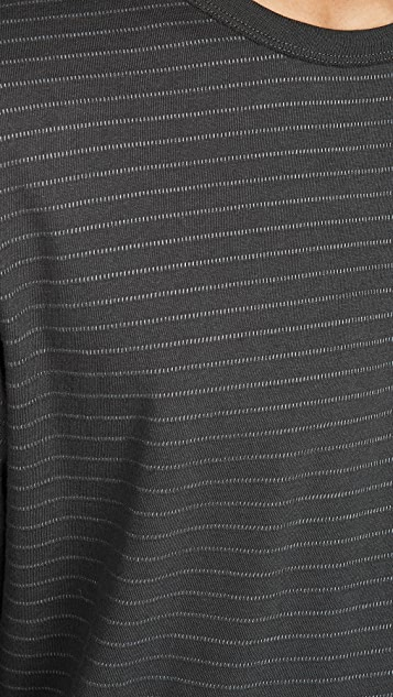 Rag & Bone Railroad Stripe Long Sleeve Tee