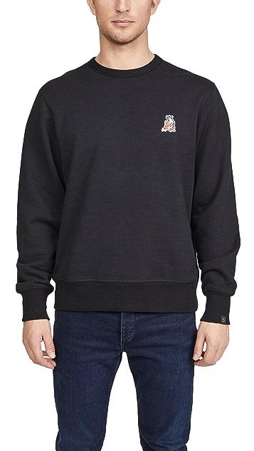 Rag & Bone Pizza Rat Crew Neck Sweatshirt