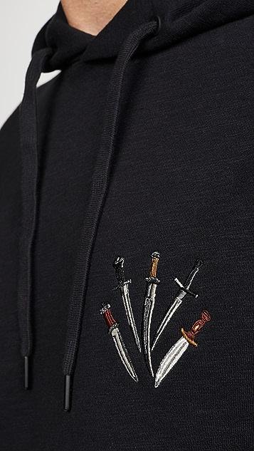 Rag & Bone Multi Dagger Pullover Hoodie