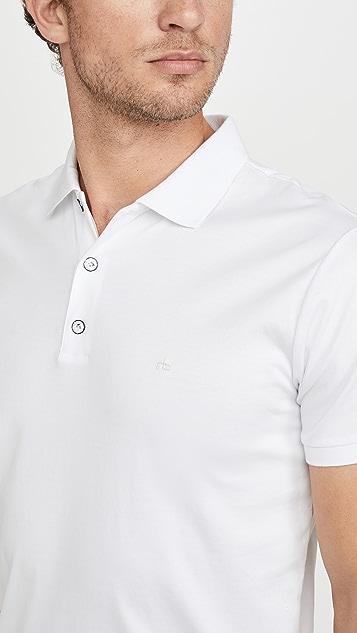 Rag & Bone Short Sleeve Interlock Polo