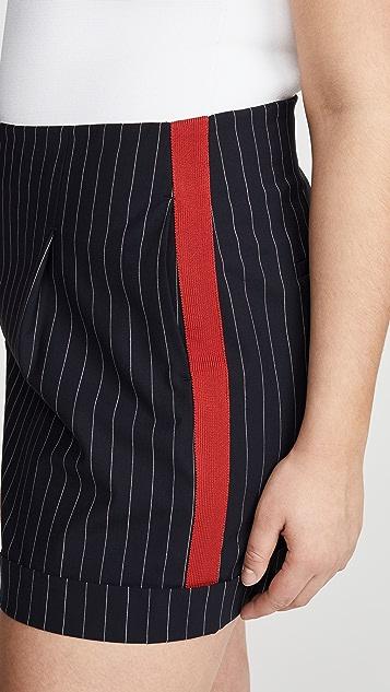 Rag & Bone Jess 细条纹短裤