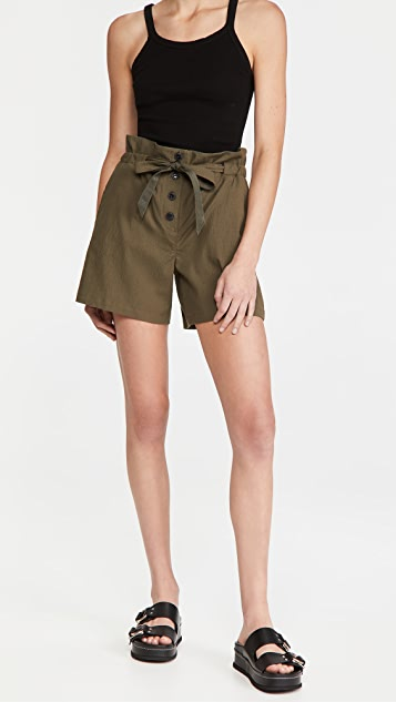 Rag & Bone Camille Seersucker Shorts
