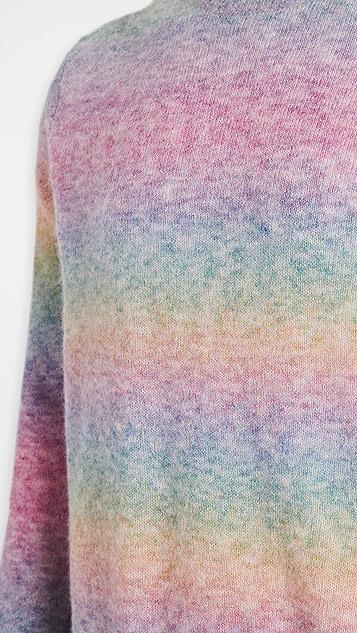 Rag & Bone Leon Crew Neck Rainbow Sweater