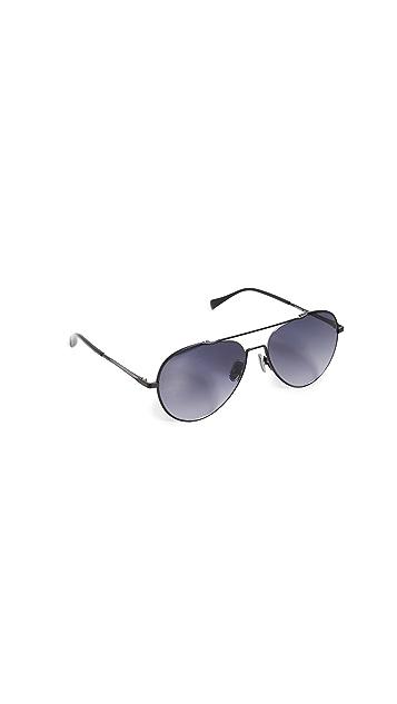 Rag & Bone Классические солнцезащитные очки-авиаторы