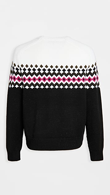 Rag & Bone Lloyd Fair Isle Crew Neck sweater