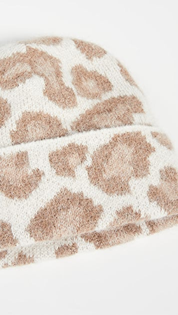 Rag & Bone Cheetah Beanie