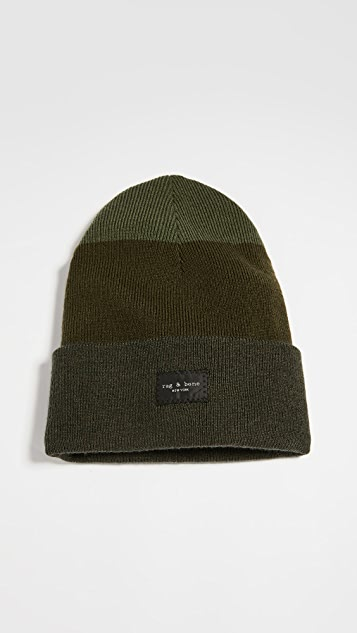Rag & Bone Addison 条纹针织帽