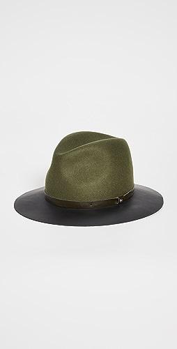 Rag & Bone - Floppy Leather Brim Hat