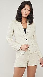 Rag & Bone 短款条纹西装外套