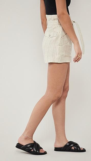 Rag & Bone 条纹工装短裤