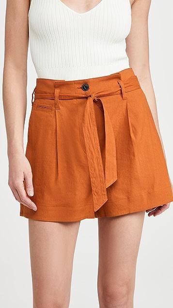 Rag & Bone River Linen Shorts