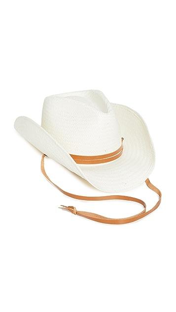 Rag & Bone Ohara Straw Cowboy Hat