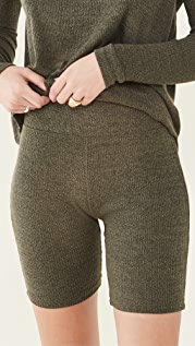 Rag & Bone 针织罗纹单车短裤