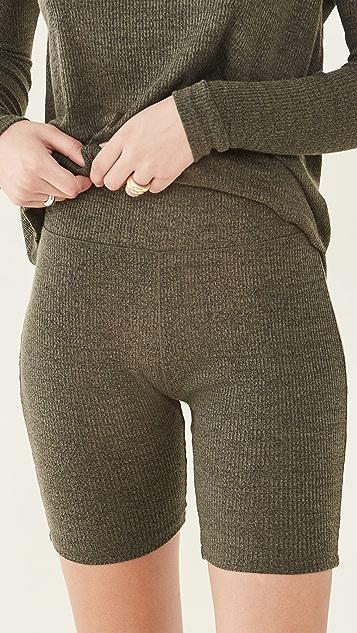 Rag & Bone The Knit Rib Bike Shorts