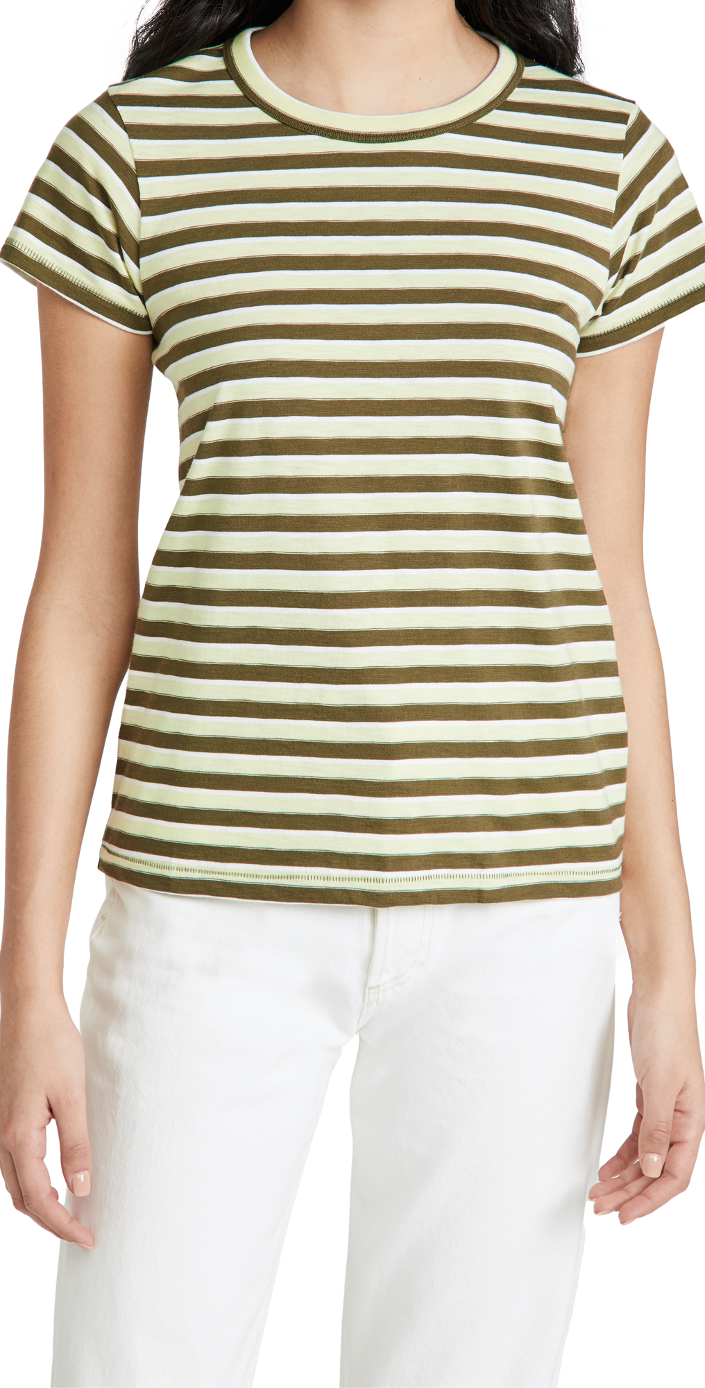 Rag & Bone THE SLUB STRIPED TEE