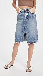Rag & Bone 高腰中长半身裙