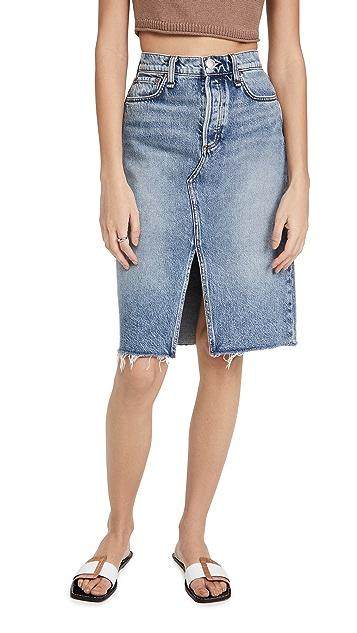 Rag & Bone High Rise Midi Skirt
