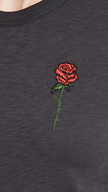 Rag & Bone Rose Script Tee