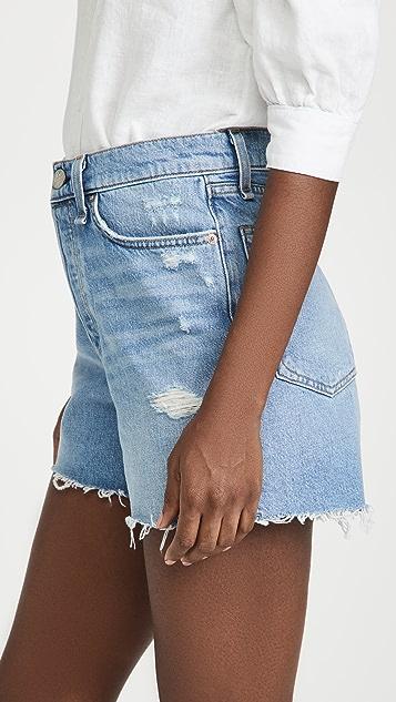 Rag & Bone Maya High Rise Shorty Shorts