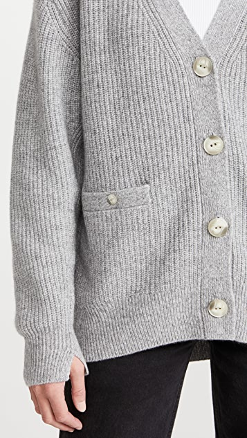 Rag & Bone Pierce 开司米羊绒长款系扣衫
