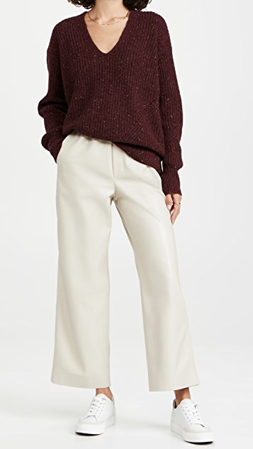 Rag & Bone Donegal Recycled Wool V-Neck Sweater