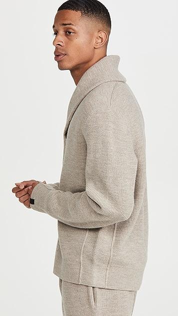 Rag & Bone Undyed Wool Shawl Cardigan