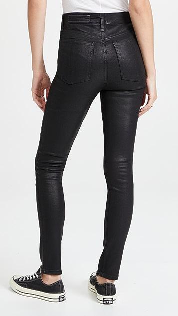 Rag & Bone Nina High Rise Skinny Coated Jeans