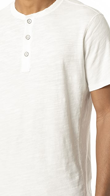 Rag & Bone Standard Issue Standard Issue Short Sleeve Henley
