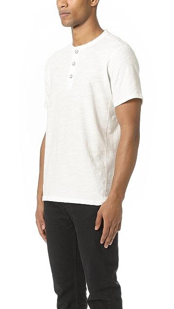 Rag & Bone Standard Issue Standard Issue Short Sleeve Henley