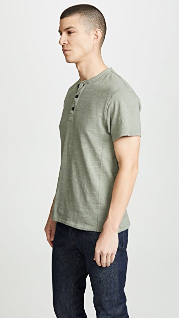 Rag & Bone Standard Issue Classic Short Sleeve Henley
