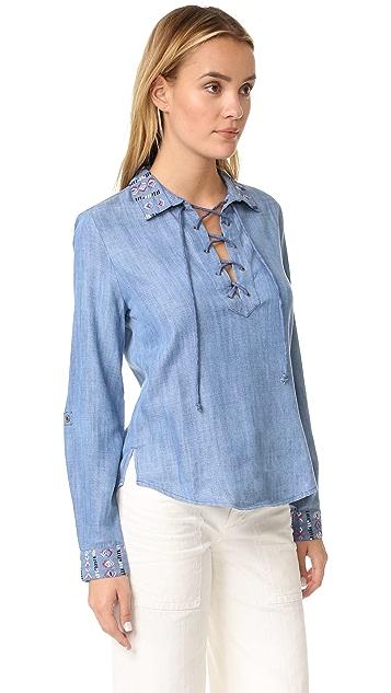 Rahi Pandora Lace Up Shirt