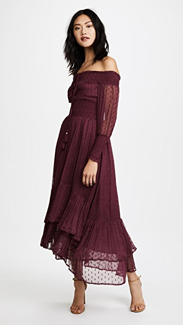 RahiCali Juliet Smocked Maxi Dress