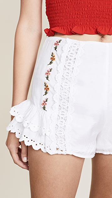 Rahi Dreamcatcher Embroidered Shorts