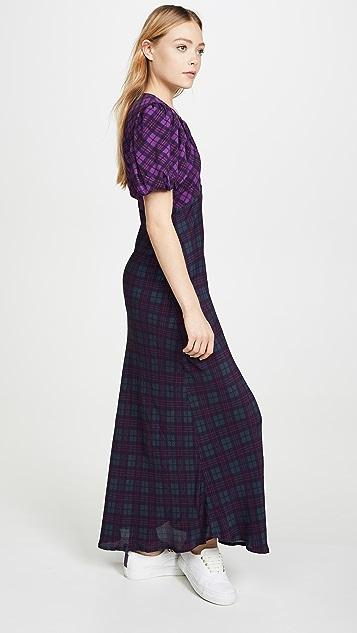 Rahi Cher 格子连衣裙
